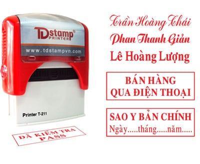 Các mẫu TDstamp Printer