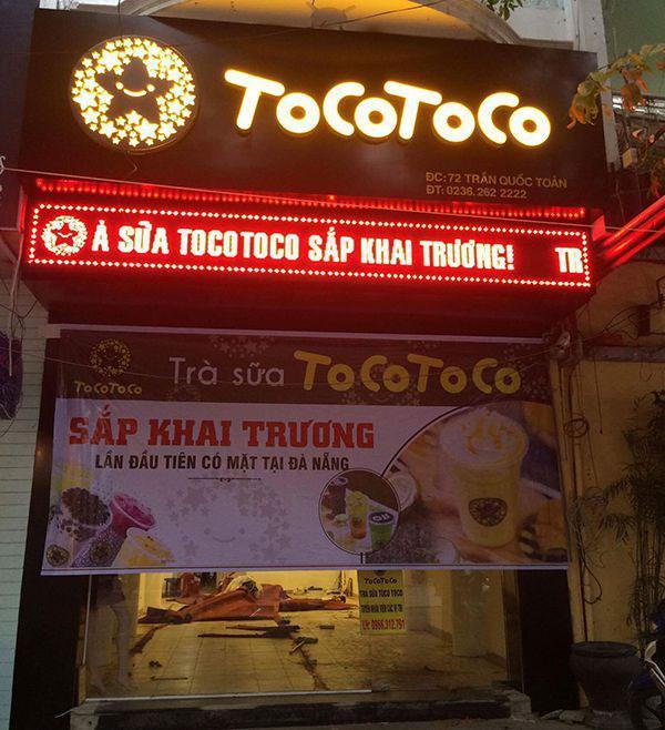 biển hiệu quảng cáo trà sữa