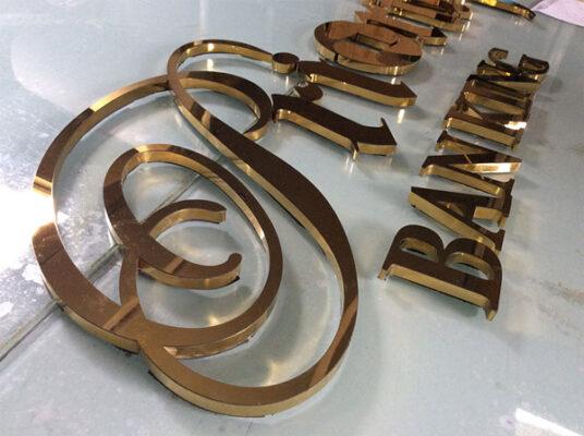 Bảng logo, chữ mica