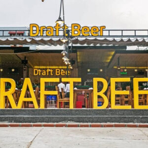 mẫu biển quảng cáo quán bia