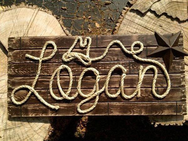 tự làm bảng hiệu gỗ