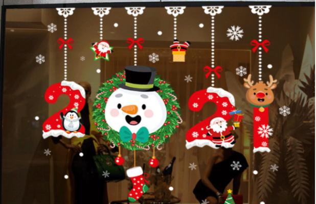 Cắt dán decal dán tường Noel dễ thương