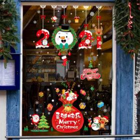 Cắt dán decal cửa kính trang trí Noel